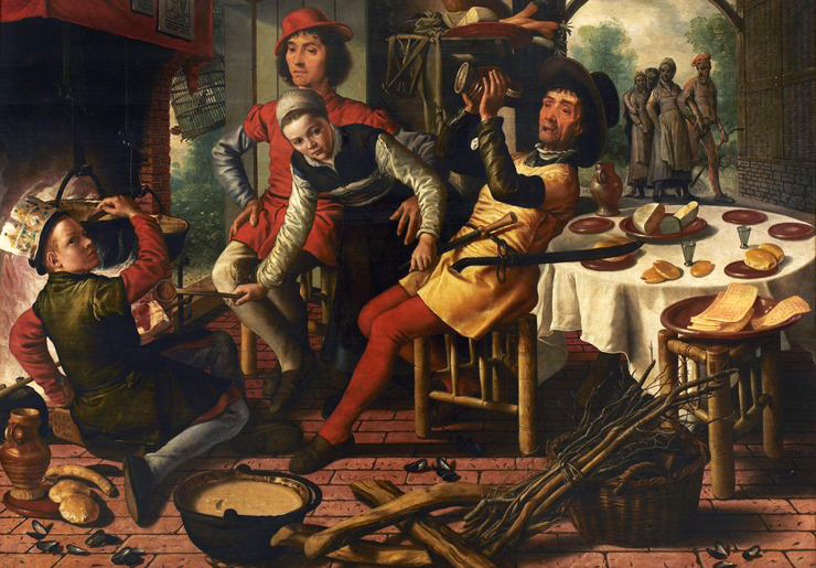 Peasants by the Hearth, Pieter Aertsen1556